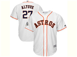 Houston Astros #27 José Altuve White 2017 World Series Patch Cool Base Jersey