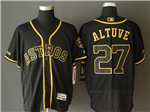 Houston Astros #27 José Altuve Black Gold Flex Base Jersey