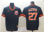 Houston Astros #27 José Altuve Navy Throwback Team Jersey