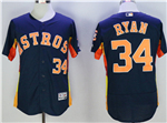 Houston Astros #34 Nolan Ryan Navy Flex Base Jersey