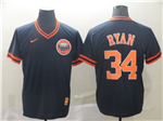 Houston Astros #34 Nolan Ryan Cooperstown Throwback Navy Jersey