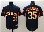 Houston Astros #35 Justin Verlander Navy 2018 Gold Program Flex Base Jersey