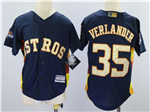 Houston Astros #35 Justin Verlander Youth Navy 2018 Gold Program Cool Base Jersey