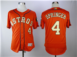 Houston Astros #4 George Springer Orange 2018 Gold Program Flex Base Jersey