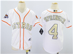 Houston Astros #4 George Springer Youth White 2018 Gold Program Cool Base Jersey