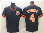Houston Astros #4 George Springer Cooperstown Throwback Navy Jersey