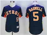 Houston Astros #5 Jeff Bagwell Navy Flex Base Jersey