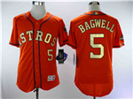Houston Astros #5 Jeff Bagwell Orange 2018 Gold Program Flex Base Jersey