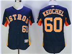 Houston Astros #60 Dallas Keuchel Navy Flex Base Jersey