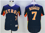 Houston Astros #7 Craig Biggio Navy Flex Base Jersey