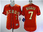 Houston Astros #7 Craig Biggio Orange 2018 Gold Program Flex Base Jersey
