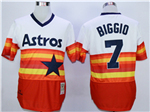 Houston Astros #7 Craig Biggio Throwback Orange Cooperstown Jersey