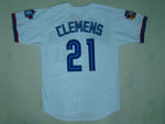 Toronto Blue Jays #21 Roger Clemens 1997 Throwback White Jersey