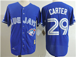 Toronto Blue Jays #29 Joe Carter 1993 Throwback Blue Jersey