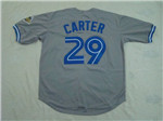 Toronto Blue Jays #29 Joe Carter 1993 Throwback Gray Jersey