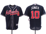 Atlanta Braves #10 Chipper Jones 2019 Alternate Navy Cool Base Jersey