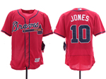 Atlanta Braves #10 Chipper Jones 2019 Red Flex Base Jersey