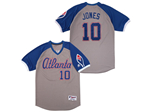 Atlanta Braves #10 Chipper Jones Gray Turn Back the Clock Jersey