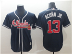 Atlanta Braves #13 Ronald Acuna Jr. 2019 Alternate Navy Cool Base Jersey