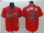 Atlanta Braves #13 Ronald Acuna Jr. 2019 Red Cool Base Jersey