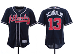 Atlanta Braves #13 Ronald Acuna Jr. 2019 Alternate Navy Flex Base Jersey