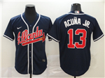 Atlanta Braves #13 Ronald Acuna Jr. Navy 2020 Cool Base Jersey