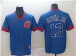 Atlanta Braves #13 Ronald Acuna Jr. Blue Throwback Jersey