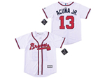Atlanta Braves #13 Ronald Acuna Jr. Youth White Cool Base Jersey