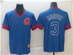 Atlanta Braves #3 Dale Murphy Throwback Blue Jersey