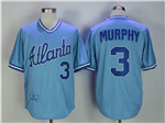 Atlanta Braves #3 Dale Murphy 1982 Throwback Blue Jersey