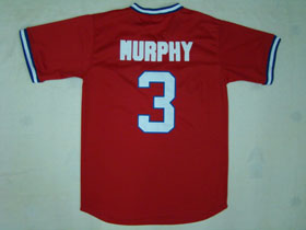 Atlanta Braves #3 Dale Murphy 1980 Throwback Red Jersey
