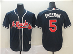 Atlanta Braves #5 Freddie Freeman 2019 Alternate Navy Cool Base Jersey