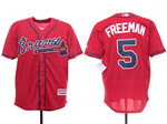 Atlanta Braves #5 Freddie Freeman 2019 Red Cool Base Jersey