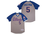Atlanta Braves #5 Freddie Freeman Gray Turn Back the Clock Jersey