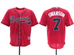 Atlanta Braves #7 Dansby Swanson 2019 Red Cool Base Jersey