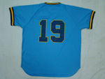 Milwaukee Brewers #19 Robin Yount 1982 Throwback Blue Jersey
