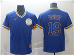 Milwaukee Brewers #19 Robin Yount Cooperstown Throwback Blue Jersey