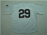 St. Louis Browns #29 Satchel Paige Throwback Cream Jersey