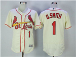 St. Louis Cardinals #1 Ozzie Smith Cream Flex Base Jersey