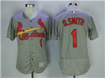 St. Louis Cardinals #1 Ozzie Smith Grey Flex Base Jersey
