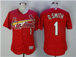 St. Louis Cardinals #1 Ozzie Smith Red Flex Base Jersey