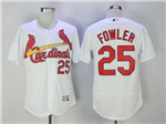 St. Louis Cardinals #25 Dexter Fowler White Flex Base Jersey