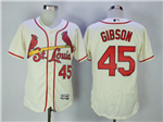 St. Louis Cardinals #45 Bob Gibson Cream Flex Base Jersey