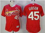 St. Louis Cardinals #45 Bob Gibson Red Flex Base Jersey
