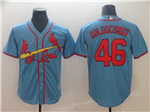 St. Louis Cardinals #46 Paul Goldschmidt Light Blue Cool Base Jersey