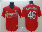 St. Louis Cardinals #46 Paul Goldschmidt Red Cool Base Jersey