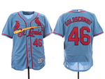St. Louis Cardinals #46 Paul Goldschmidt Light Blue Flex Base Jersey