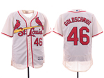 St. Louis Cardinals #46 Paul Goldschmidt Cream Flex Base Jersey