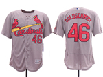 St. Louis Cardinals #46 Paul Goldschmidt Gray Flex Base Jersey