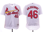 St. Louis Cardinals #46 Paul Goldschmidt White Flex Base Jersey